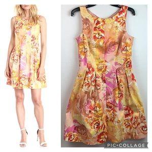 Gabby Skye slimming fit flare floral spring dress